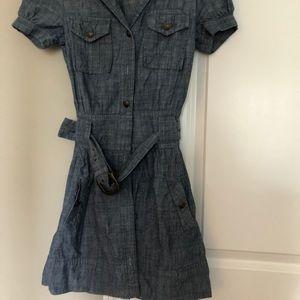 Anthropologie blue jean dress